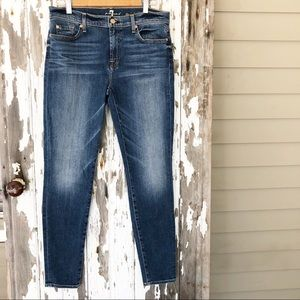 7FAM The Skinny High Rise Jeans Size 32